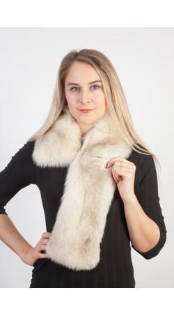 Greenland fox fur scarf-collar